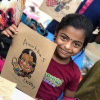"RAKUGAKIYA maco India2018 ""Give me Smile"""
