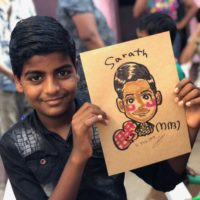 "RAKUGAKIYA maco India2018 ""Give me Smile"""