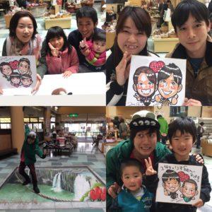 チューリップ祭にがおえ@原尻の滝の似顔絵イベント