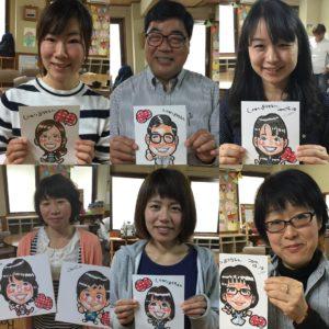 ラクガキッズプロジェクト@白百合幼稚園の似顔絵イベント